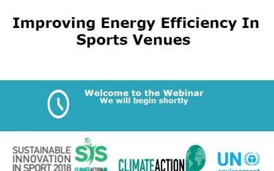 Improving energy efficiency in sports venues