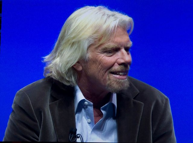 Sir Richard Branson has expressed his belief that by 2020 more than half of commercial jet planes could be powered by green fuel.
